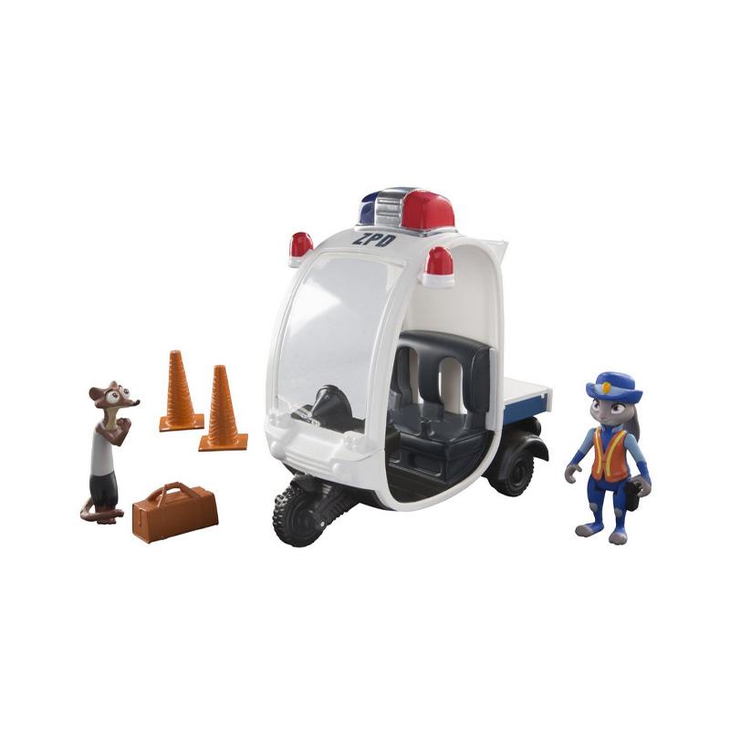 疯狂动物城 disney 迪士尼 zootopia 交警朱迪和公爵黄鼠狼 手办套装