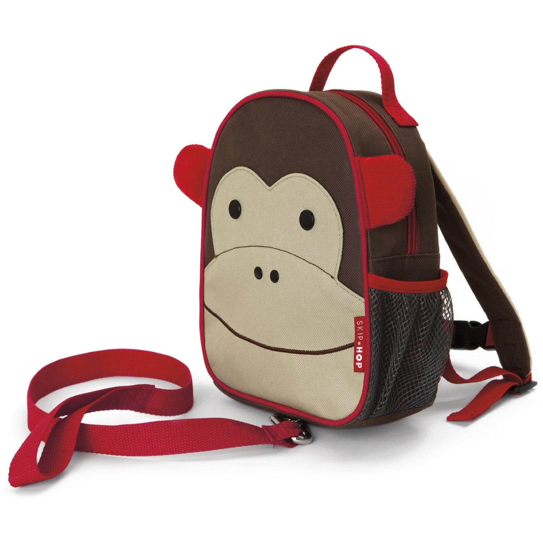 美国skip hop 可爱动物防走失儿童书包/背包 小猴子款