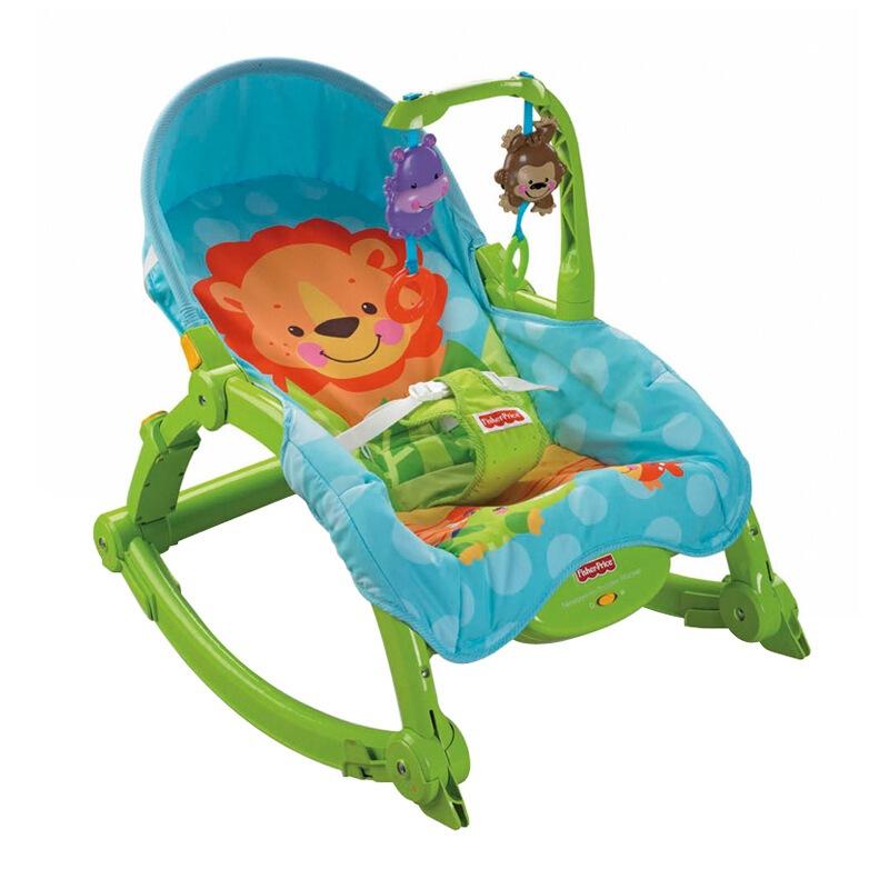 费雪 益智玩具 新生儿宝宝 可爱动物多功能轻便摇椅 w2811