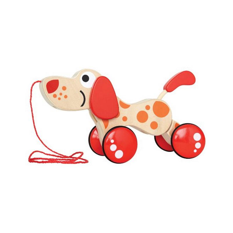 百变宝宝,玩具拖拉宝宝!德国hape学步狗(23.5cm*15cm造型一听带哨的玩具就哭图片